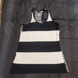 Poor black and cream striped tank
